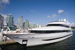 Private Yacht. Coal Harbour. Vancouver Royalty Free Stock Photography