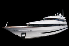 Private Yacht. Black Background Stock Images