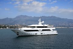 Private yacht Stock Photo