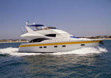 Private yacht on the Pacific Ocean Stock Photo