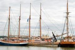 Private yachts alongside the dock. In helsinki Stock Photo
