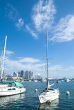 Private yachts in San Diego bay Stock Photo