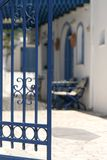 Private yard. A view to the private yard (Santorini, Greece Stock Photos