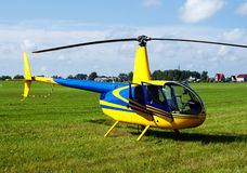 Private yellow helicopter Royalty Free Stock Image