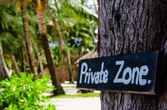 Private zone sign Stock Photography