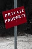 Privateigentum Stockbild