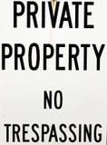 Privateigentum kein Übertreten Stockbild