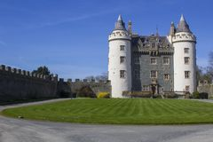 The Privately owned Killyleagh Castle in Northern Ireland. 28 March 19 The Privately owned Killyleagh Castle in County Down Northern Ireland. The castle has the royalty free stock photos