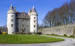 The Privately owned Killyleagh Castle in Northern Ireland. 28 March 19 The Privately owned Killyleagh Castle in County Down Northern Ireland. The castle has the stock photography