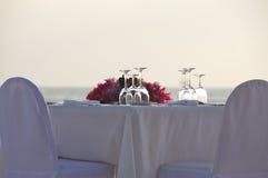 Privater Abendtisch Stockbild