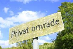 Privater Bereich auf Dänisch Stockbilder