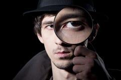 Privater Detektiv stockfoto