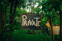 Privater Garten lizenzfreie stockbilder