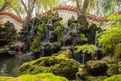 Privater Garten des traditionellen Chinesen stockbild