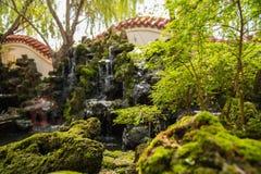 Privater Garten des traditionellen Chinesen lizenzfreies stockbild