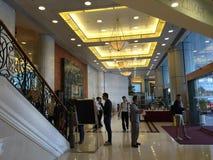 Privater Lohn-Krankenhaus-Eingang Hong Kong Stockbilder