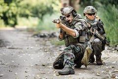 Privater Militärauftragnehmer stockfotos