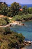 Privater Strand auf der Insel von Zakynthos Lizenzfreie Stockfotografie