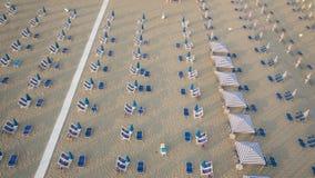 Privater Strand, Vogelperspektive, Toskana lizenzfreie stockfotografie