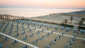Privater Strand, Vogelperspektive, Toskana stockbild