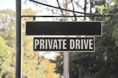 Privates Antriebs-Straßenschild Stockfotografie