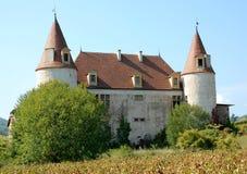 Privates château in der Beaujolaisregion, Frankreich Lizenzfreie Stockfotografie