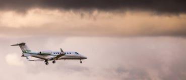 Privates Düsenflugzeug Stockbild