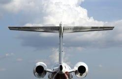 Privates Düsenflugzeug Stockfotografie