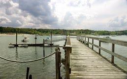 Privates Dock auf Long Island Stockbilder