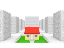 Privates Haus in der Stadt Lizenzfreie Stockfotos