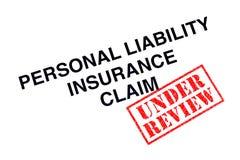 Privathaftpflichtversicherungs-Anspruch auf Versicherungsleistungen lizenzfreies stockbild