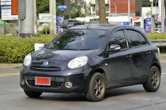 Privatkleinlastwagen, Nissan March Lizenzfreies Stockbild