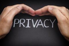privatleben Sicherheit von Personendaten Lizenzfreie Stockfotos