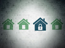 Privatlebenkonzept: Hauptikone auf Digital-Papier Lizenzfreie Stockfotos