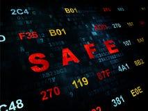 Privatlebenkonzept: Safe auf Digital-Hintergrund Stockfotos