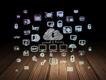 Privatlebenkonzept: Wolken-Netz in der Schmutzdunkelkammer Lizenzfreie Stockfotos