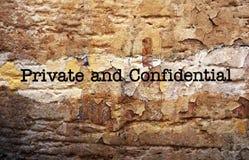 Privato & confidenziale Fotografie Stock Libere da Diritti