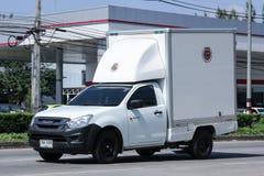 Privato prenda il camion del contenitore immagine stock