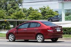 Privatstadt Auto Honda City Stockfotografie