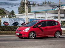 Privatstadt Auto Honda Jazz Hatchback lizenzfreies stockfoto