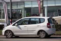 Privatstadt Auto Honda Jazz Hatchback stockfoto