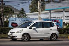 Privatstadt Auto Honda Jazz Hatchback stockfotos