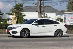 Privatwagen, Honda Civic Auf der keiner Straße 1001 Lizenzfreie Stockfotografie