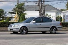 Privatwagen, Honda Civic Auf der keiner Straße 1001 Stockfotografie