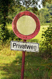 Privatweg Royalty Free Stock Photo