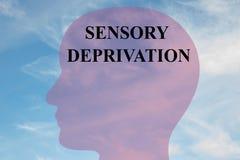 Privazione sensoriale - concetto terapeutico Immagine Stock