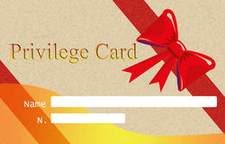 Privilege card Royalty Free Stock Photos