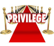 Privilege Rich and Famous Exclusive Celebrity VIP Access Red Car Royalty Free Stock Photos