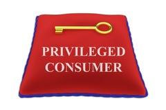 Privileged Consumer concept Stock Photo