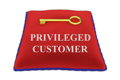 Privileged Customer concept Royalty Free Stock Images